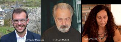 Amador Marqués; alcade de Bossòst, Jose Luis Muñoz, comissari i Lluna Vicens , sub-comissària